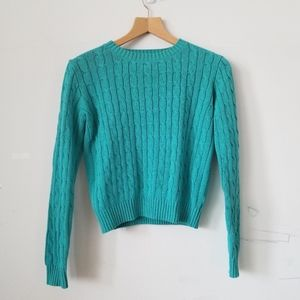 American Apparel Cropped Knitted Sweater Medium